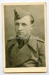 Wehrmacht Portraitfoto, Angehöriger einer Sturmgeschützabteilung