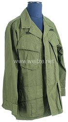 USA US Army Vietnam War: Jungle Jacket for a grunt who served in 3/34 Artillery of the 9th Infantry Division