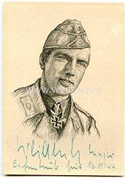 Heer - Originalunterschrift von Ritterkreuzträger Major Wilhelm Weidenbrück