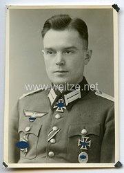 Heer - Originalunterschrift von Ritterkreuzträger Hauptmann Willi Wechsung