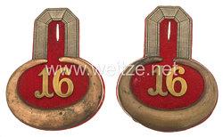 Preußen Paar Epauletten für einen Leutnant der 16. Landwehr-Brigade