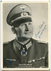 Heer - Originalunterschrift von Ritterkreuzträger Oberst Hans Mikosch