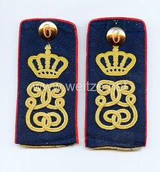 Königreich Sachsen Paar Schulterklappen für Mannschaften im Infanterie-Regiment König Georg Nr. 106