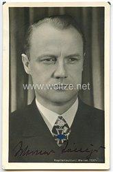 Kriegsmarine - Originalunterschrift von Ritterkreuzträger Kapitänleutnant Werner Toeniges