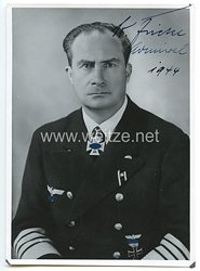 Kriegsmarine - Originalunterschrift von Ritterkreuzträger Admiral Kurt Fricke