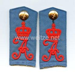 Preußen 1. Weltkrieg Paar Schulterklappen für Mannschaften im Königin Augusta Garde-Grenadier-Regiment Nr. 4