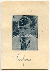 Luftwaffe - Originalunterschrift von Ritterkreuzträger OberstGünther Lützow