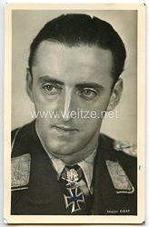 Luftwaffe - Originalunterschrift von Ritterkreuzträger Major Hermann Graf