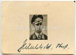 Luftwaffe - Originalunterschrift von Ritterkreuzträger Oberst Hubertus Hitschhold