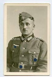 Wehrmacht Heer Portraitfoto, Soldat mit SA-Wehrsportabzeichen der Infanterie