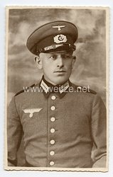 Wehrmacht Heer Portraitfoto, Soldat mit Schirmmütze