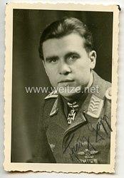 Luftwaffe - Originalunterschrift von Ritterkreuzträger Oberfeldwebel Franz Gapp