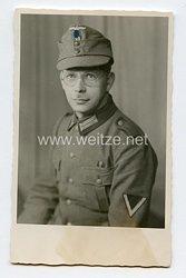 Wehrmacht Heer Portraitfoto, Gefreiter mit Einheitsfeldmütze