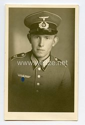 Wehrmacht Heer Portraitfoto, Soldat mit Waffenrock der Infanterie