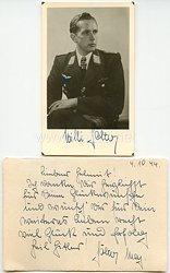 Luftwaffe - Originalunterschrift von Ritterkreuzträger Major Willi Sölter