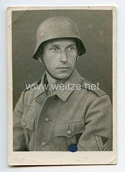 Wehrmacht Heer Portraitfoto, Soldat einer Sturmgeschützabteilung