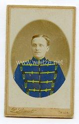 Preußen kleines Kabinettfoto eines Husaren im Husaren-Regiment Nr. 9