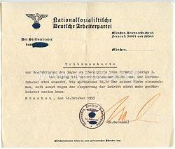 III. Reich - Originalunterschrift von Martin Bormann als Stellvertreter des Führers