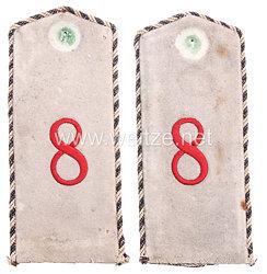 Preußen Paar Schulterklappen für den Mantel für einen Einjährig Freiwilligen im Rheinischen Fußartillerie-Regiment Nr. 8