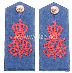 Preußen Paar Schulterklappen für Mannschaften im Füsilier-Regiment von Gersdorff (Kurhessisches) Nr. 80