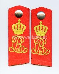 Preußen Paar Schulterklappen für Mannschaften im Thüringischen Ulanen-Regiment Nr. 6