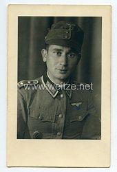 Wehrmacht Heer Portraitfoto, Oberfeldwebel der Gebirgsjäger mit Bergmütze