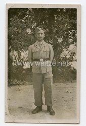Wehrmacht Heer Foto, Soldat in Tropenuniform