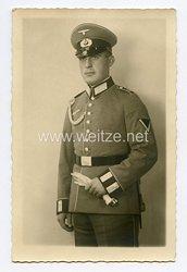 Wehrmacht Heer Foto, Gefreiter der Infanterie mit Waffenrock