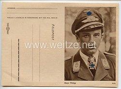 Luftwaffe - Feldpostbrief der VDA mit Bildnis von Ritterkreuzträger Major Hans Philipp