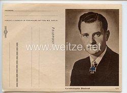 Kriegsmarine - Feldpostbrief der VDA mit Bildnis von Ritterkreuzträger KorvettenkapitänHeinrich Bleichrodt