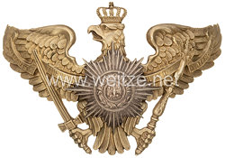 Preußen Helmadler für die Pickelhaube eines Feldwebels im 1. Garde-Regiment zu Fuß, Garde-Füsilier-Regiment oder 5. Garde-Regiment zu Fuß
