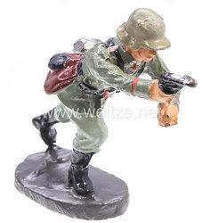 Elastolin - Heer Offizier mit Pistole stürmend