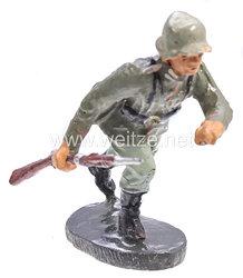 Elastolin - Heer Schütze im Sprung Gewehr freitragend