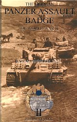 "Fachliteratur - "" The German Panzer Assault Badge of World War II "" by Philippe De Bock - Band 2"