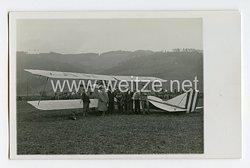 Weimarer Republik Foto,Doppeldecker Flugzeug