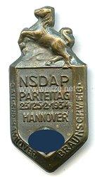 NSDAP - Parteitag 23.-25.2.1934 Hannover - Gau Süd-Hannover Braunschweig