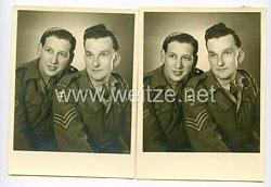 England 2. Weltkrieg und Besatzungsmacht: 2 Portraitfotos eines Angehörigen des
