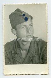Waffen-SS Portraitfoto, SS-Mann mit Schiffchen