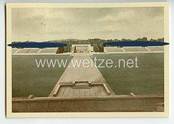 """III. Reich - farbige Propaganda-Postkarte - """" Reichsparteitag 1938 - Nürnberg - Reichsparteitagsgelände - Luitpoldarena - Ehrenmal """""""