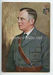 """III. Reich - farbige Propaganda-Postkarte - """" Franz Seldte 1. Bundesführer des Stahlhelm Bund der Frontsoldaten """""""