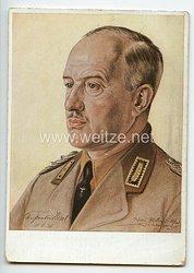 """III. Reich / RAD - farbige Propaganda-Postkarte - """" Reichsarbeitsführer Konstantin Hierl """""""