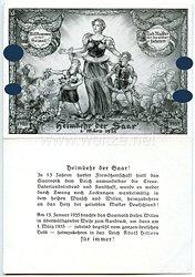 """III. Reich - Propaganda-Postkarte - """" Heimkehr der Saar 1. März 1935 """""""