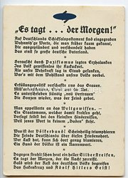 "III. Reich - Propaganda-Postkarte - "" Es tagt ... der Morgen ! """