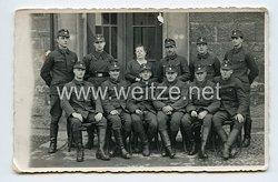 Allgemeine-SS Foto, SS-Soldaten im Arbeitsanzug