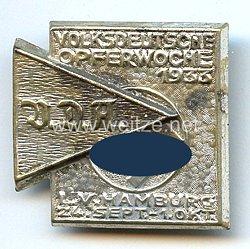 III. Reich - Volksdeutsche Opferwoche 1933 - VDA L.V.Hamburg 24.9.-1.10.