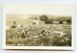 TschechoslowakeiPostkarte Panzer undInfanterie1930