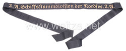 "Mützenband ""1.A. Schiffsstammdivision der Nordsee 1.A."""