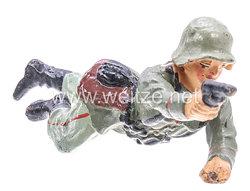 Elastolin - Heer Soldat kriechend mit Pistole