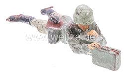 Elastolin - Heer Munitionsschütze kriechend mit Munitionsbehältern
