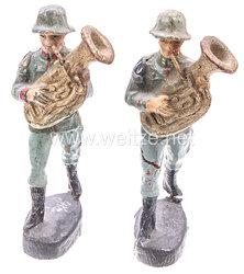 Elastolin - Heer 2 Bläser mit kleinem Bass marschierend